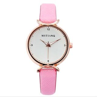 Đồng hồ nữ Mstianq h4 dây da cao cấp mặt tròn cực xinh