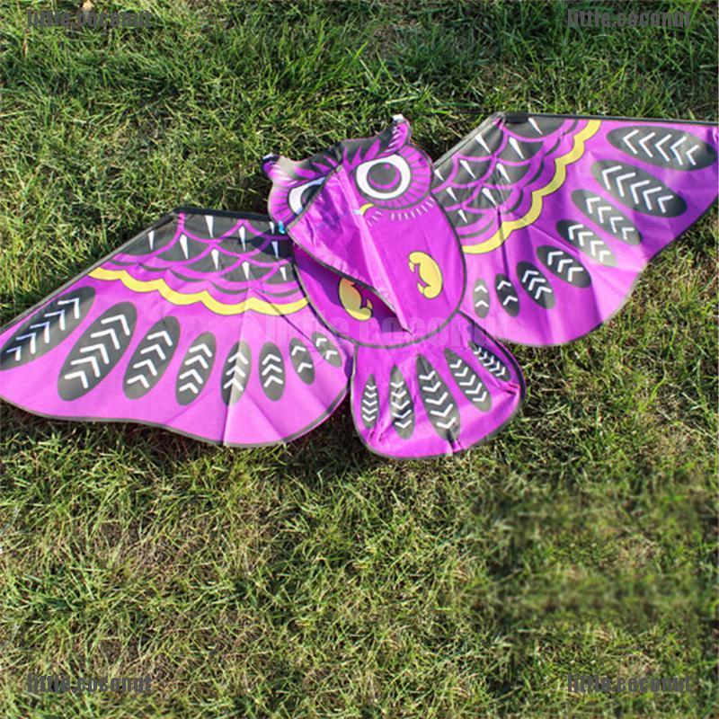 [coco] 110cm Flying Kite Colorful Cartoon Owl with Kite Line Kids Outdoor Toy