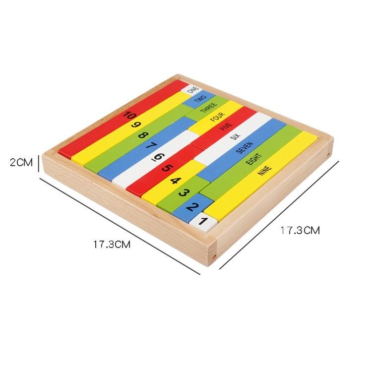 Montessori dạy học bằng gỗ hỗ trợ trẻ em nhận biết màu thập phân giáo dục sớm