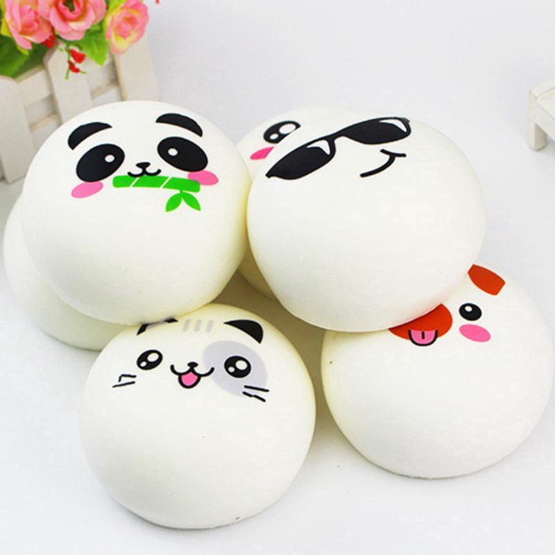Cute Panda Expression PU Slow Rebound Toys Random Send