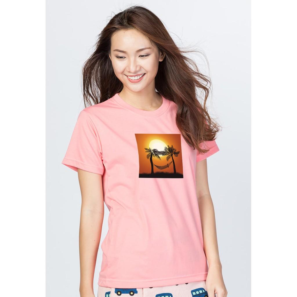 Áo thun nữ hồng in hình 83 (EVEREST)