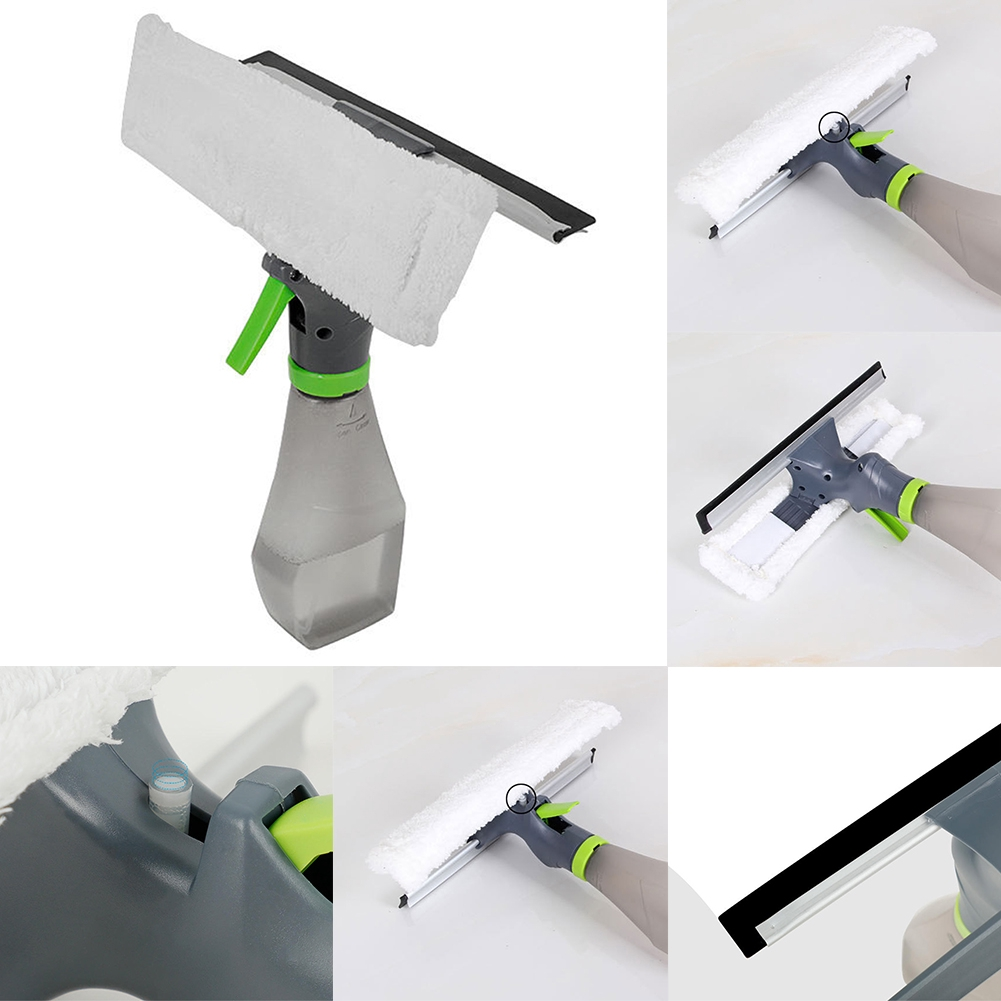 3 In 1 Window Cleaner Household Multipurpose Car Hand-held With Spray Bottle Slot For Kitchen Cleaning Brush