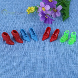 [IN STOCK/COD]12 Pairs Doll High Heel Shoes Sandals for Girls Doll (Random)
