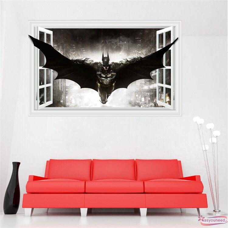 HÀNG MỚI VỀ decal dán tường hình Batman phong cách Batman