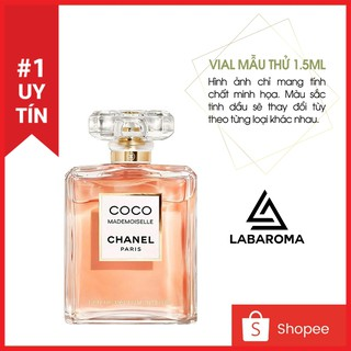 Tinh dầu nước hoa nam nữ (unisex) vial mẫu thử 1.5ml thơm lâu hương quyến rũ, làm dầu thơm, xông phòng, treo tủ quần áo