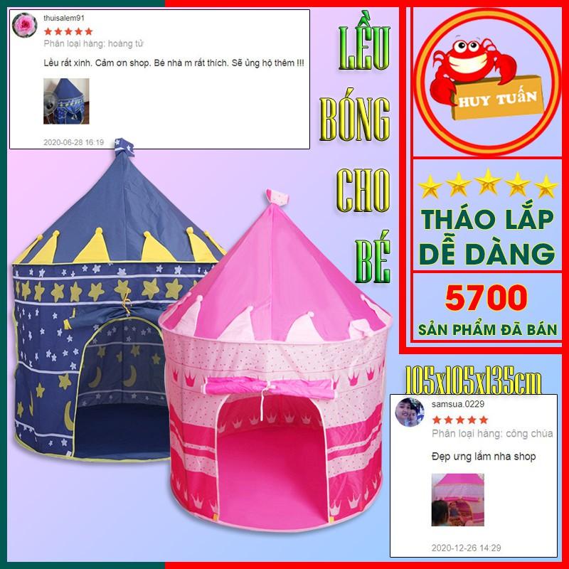 Lều bóng cho bé – Lều lâu đài công chúa hoàng tử