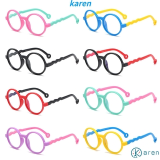👗KAREN💍 Age 3-10 Blue Light Glasses for Kids Silicone Frame TV Phone Glasses Blue Light Blocking Glasses Anti-eyestrain UV400 Protection Soft for Boys Girls Computer Gaming Glasses