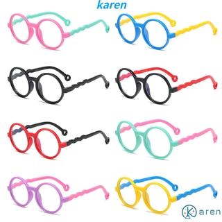 👗KAREN💍 Age 3-10 Blue Light Glasses for Kids Silicone Frame TV Phone Glasses Blue Light Blocking Glasses Anti-eyestrain UV400 Protection Soft for Boys Girls Computer Gaming Glasses
