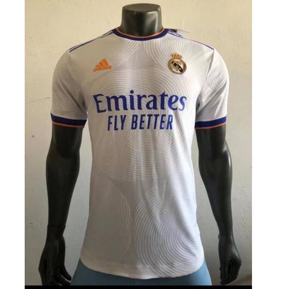 (Star)Áo thun Jersey Real Madrid Home 2021/2022 SMLXL 2XL 3XL