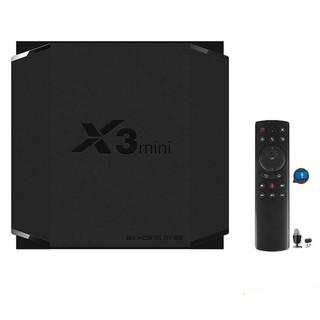 Android TV X3 Mini có điều khiển giọng nói 4GB Ram, 32GB bộ nhớ trong, Android 9.0 cài sẵn bộ ứng dụng giải trí cao cấp