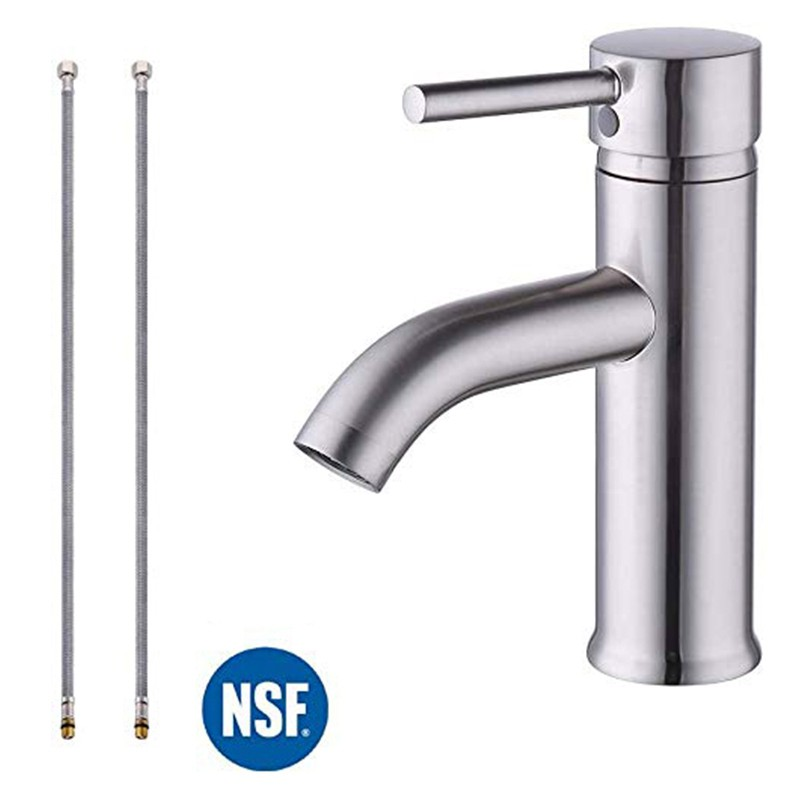 Cupc Nsf Certified Brass Ern Bathroom Sink Faucet Brushed Nickel Single Handle Wash Basin Faucet Lavatory Tap Lead Free Brass Shopee Việt Nam