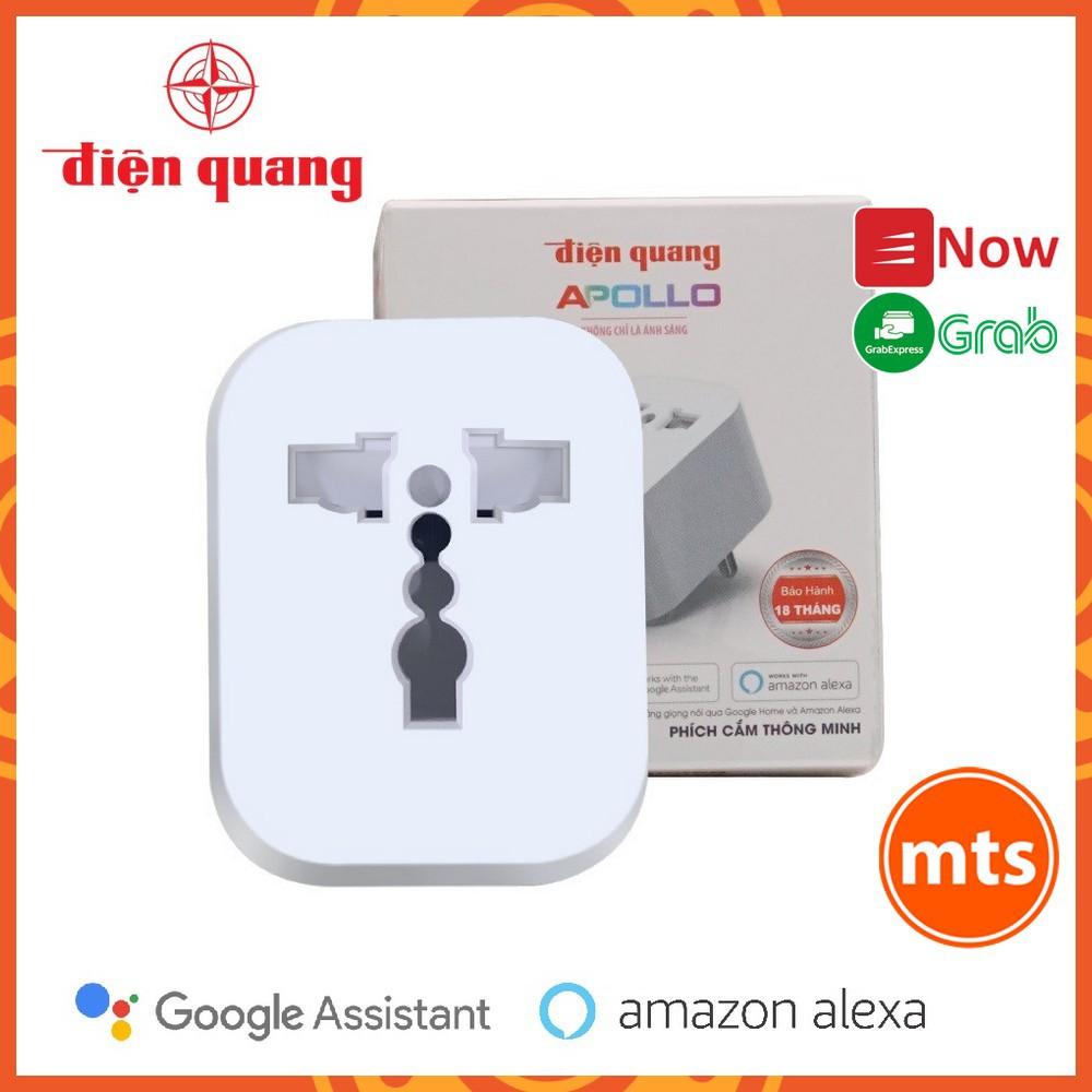 Ổ cắm WiFi Phích Cắm Thông Minh Điện Quang Apollo ĐQ SP1.1 01 WiFi Hỗ trợ Google Home, Alexa - Minh Tín Shop