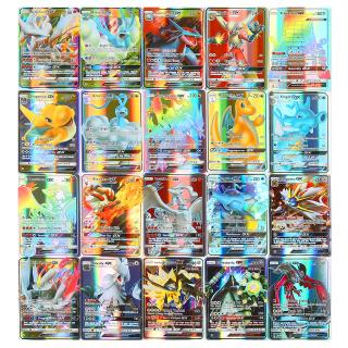 Lot 100 Pieces Pokemon Cards Pack All Holographic 60Mega+30GX+10Trainer