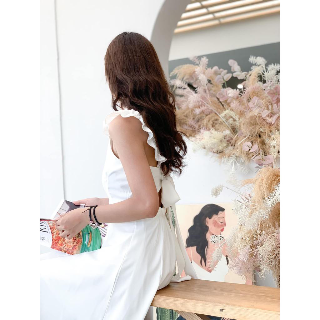 [MẪU MỚI] Đầm công chúa phối nơ lưng đơn giản xinh xắn