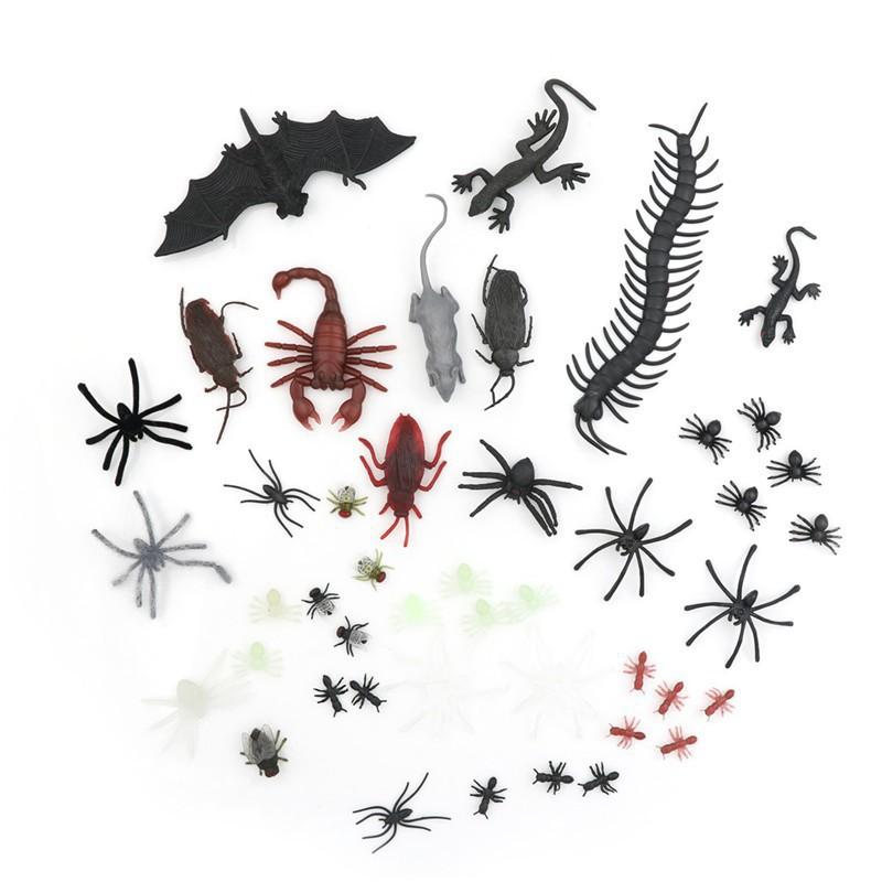 Set 44 mô hình côn trùng / chuột / bọ cạp / nhện dành cho các bé  shoprequalc