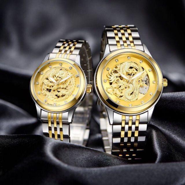 Đồng hồ nam nữ mặt rồng cơ tự động ( giá 1 chiếc)