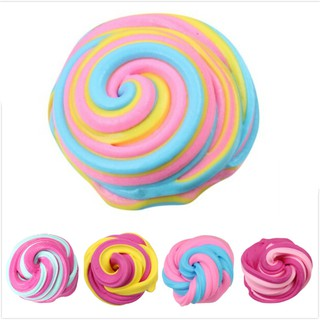 ღBLIღ 60ml Fluffy Foam Clay Slime Putty Magic MultiColor Slime Sludge Cotton Mud Toy [FS]