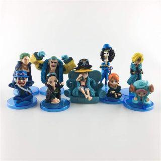 Mô hình one piece, team mũ rơm 9 nhân vật