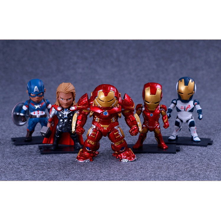 Mô hình 5 nhân vật Marvel Avenger cao cấp 9cm - The Royal