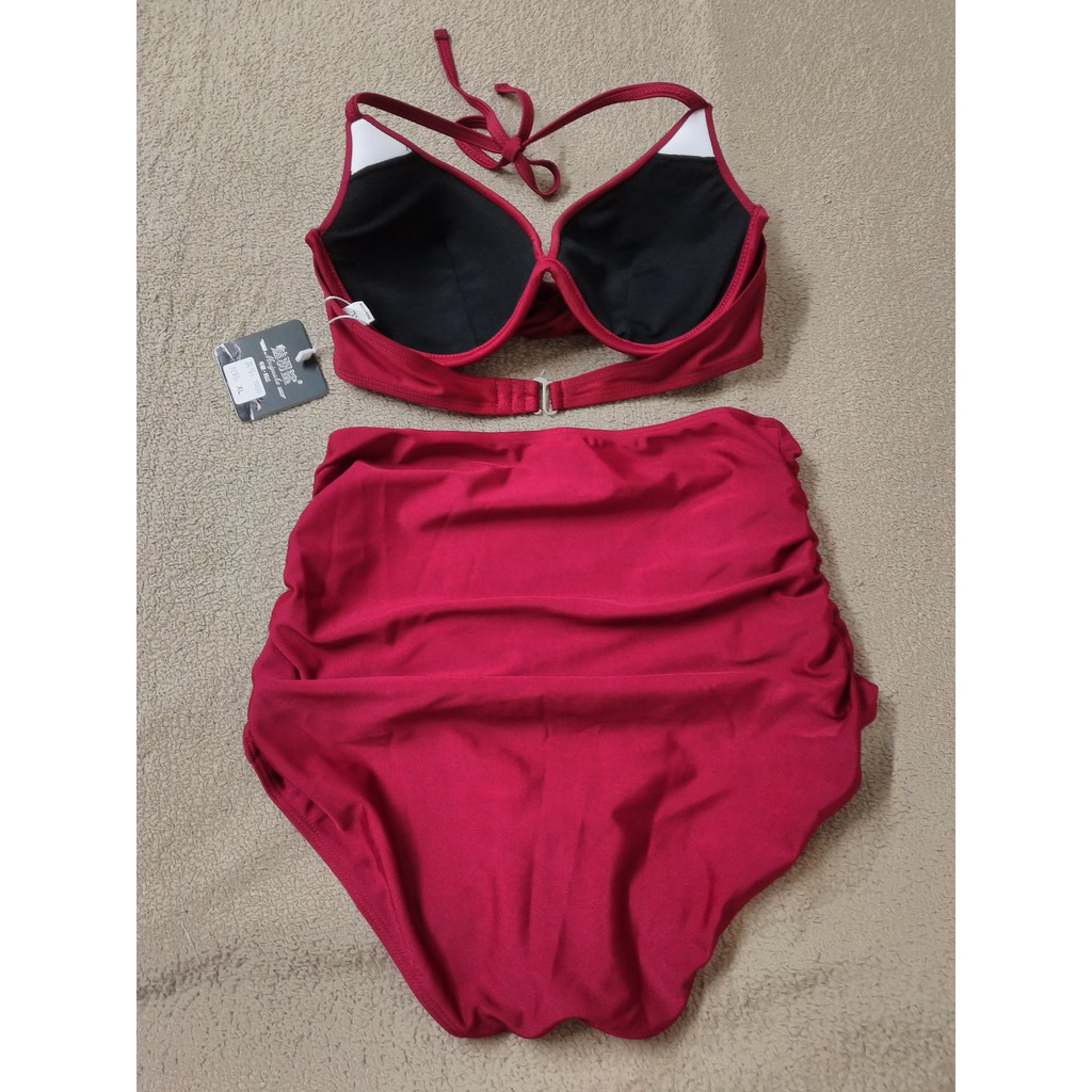 Bikini áo tắm ( FREESHIP ) Bikini liền sexy thời trang đi biển mùa hè liền chéo tôn dáng trẻ trung XL 10 -R