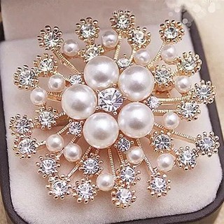 Brooch female Japanese and Korean new style all-match pin high-end luxury rhinestone corsage fixed clothes anti-empty cat's eye pin
