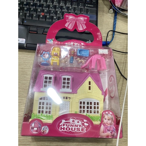 Ngôi nhà búp bê, đồ chơi búp bê + nhà cho bé