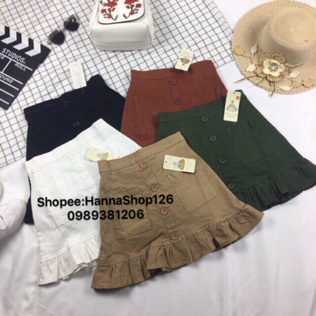 Chân váy kaki hàng Quảng Châu full màu