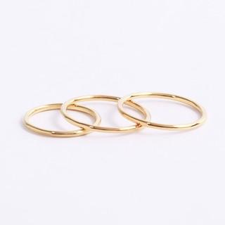 Nhẫn bạc nữ trơn đơn giản minimalist Gix Jewel N57 thumbnail