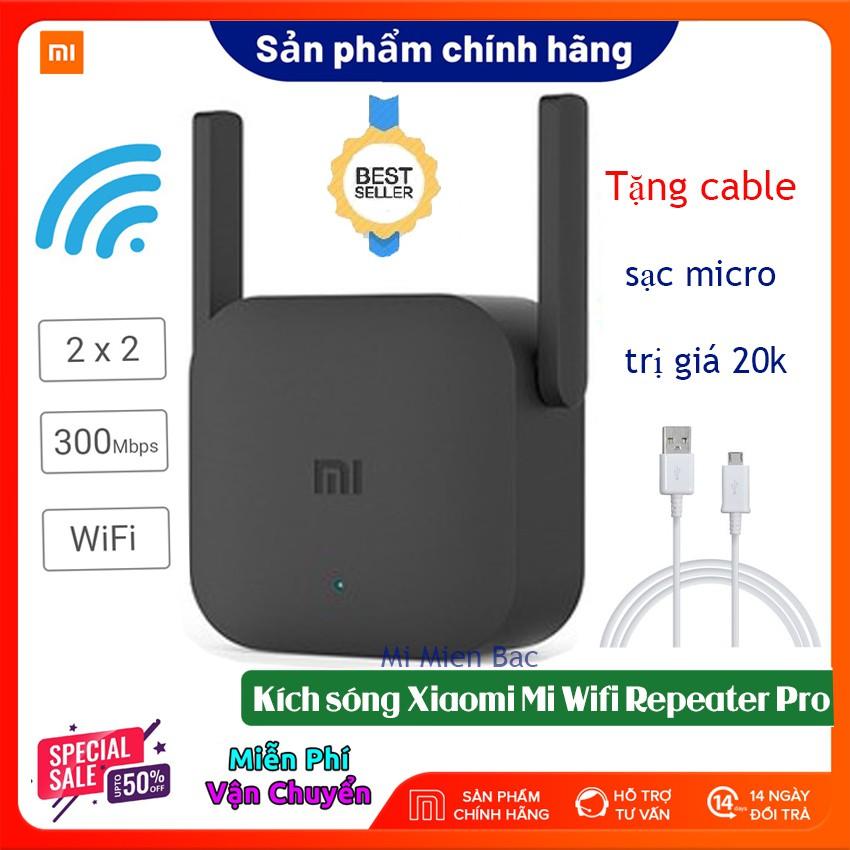 [BH 12 Th] Kích Sóng WiFi Xiaomi - Thiết Bị Mở Rộng WiFi Xiaomi Mi Wifi Repeater Pro phiên bản mới 2020, 300Mbps 2 râu
