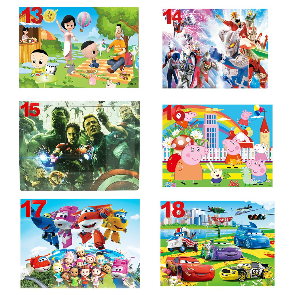 Tranh Xếp Hình 40 Mảnh Khung Bảng Gỗ Cho Bé Trai Bé Gái 1-10 Tuổi