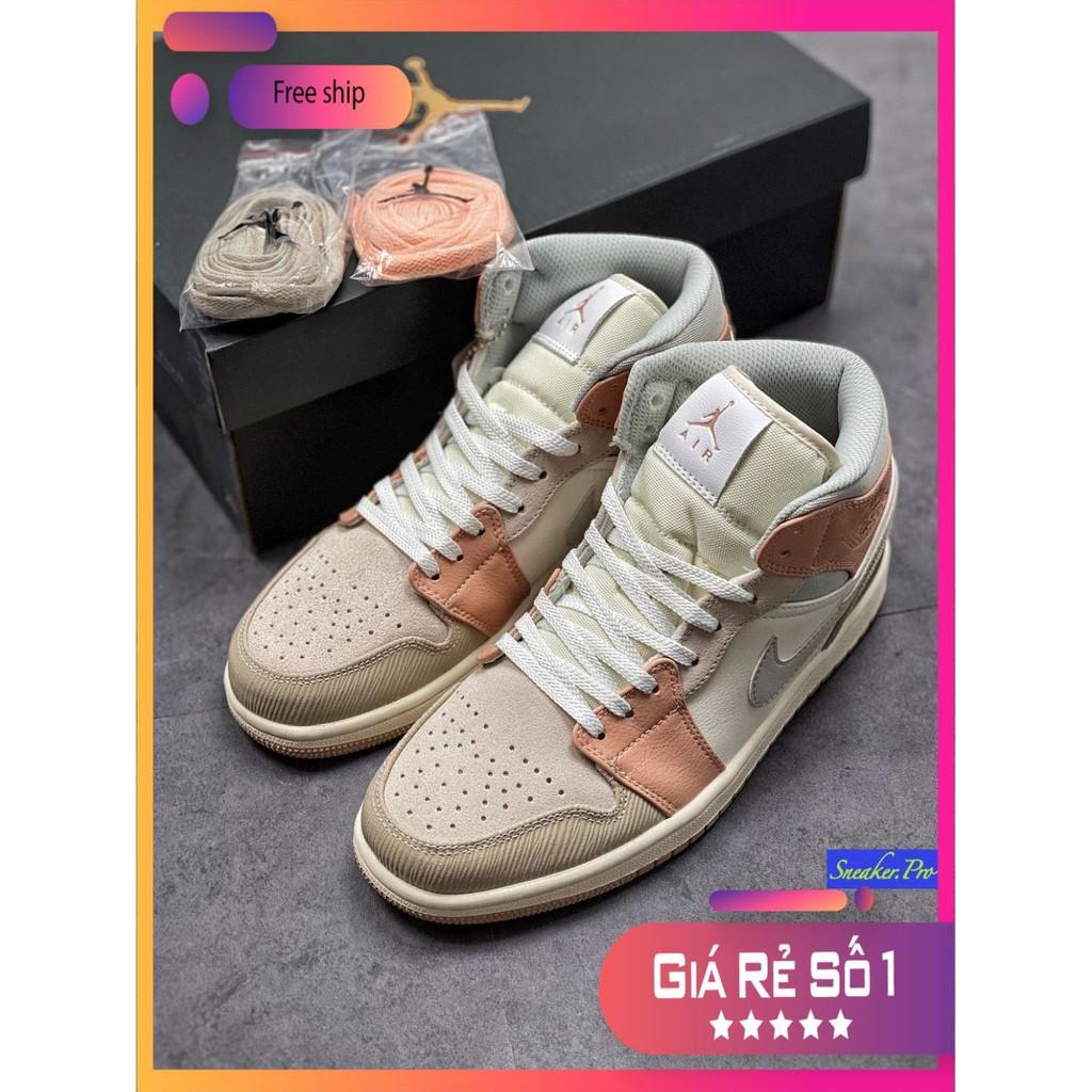 ( FULL BOX ) Giày thể thao cao cổ AIR Jordan 1 Mid Milan  siêu đẹp cho  nữ !!! . : : : :