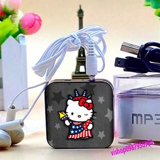 Máy nghe nhạc mp3 hoạt hình 210 mẫu tặng cáp sạc tai nghe hàng nhiều L