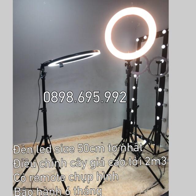 Đèn make up, đèn live stream, chụp hình, phun xăm size đèn 50cm có remote điều khiển chụp hình bảo hành 6 tháng