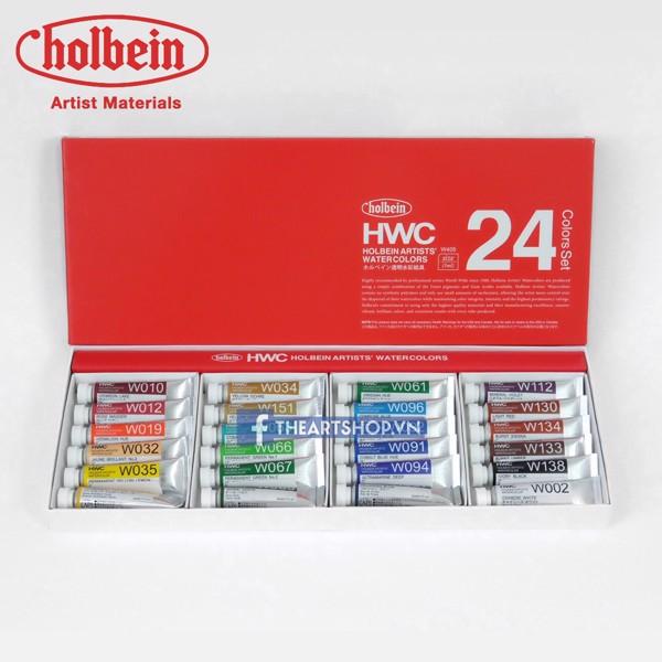 Màu nước HOLBEIN Artists - tuýp 5ml, bộ 24 màu