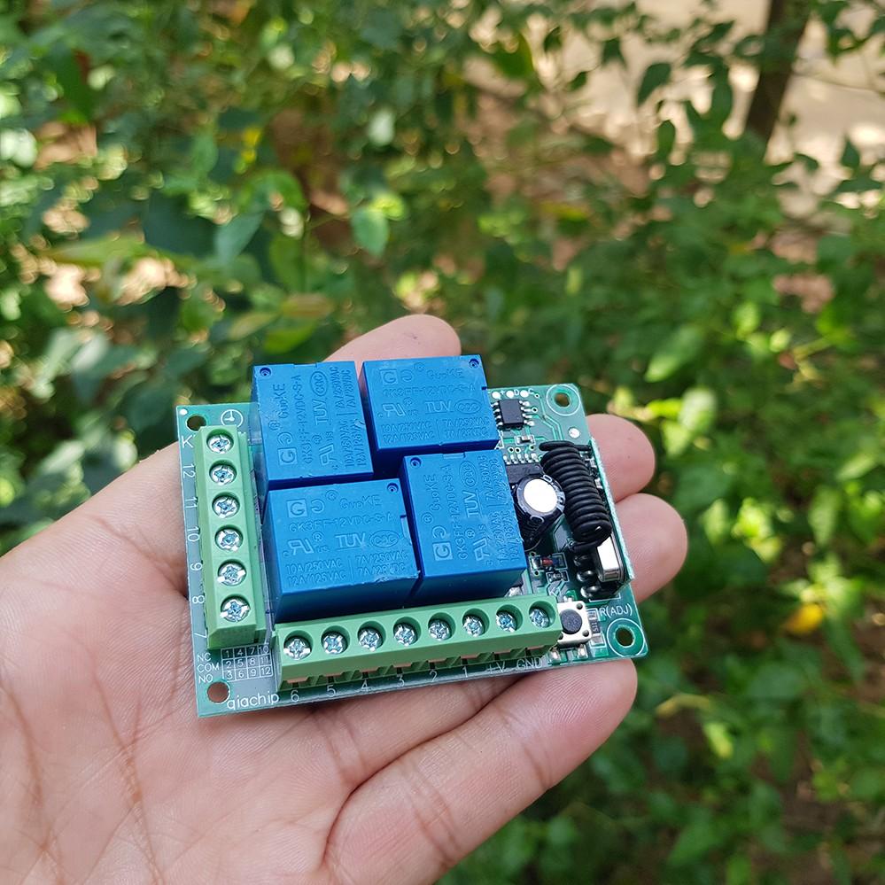 Điều khiển từ xa RF 12 Volt 4 kênh remote inox
