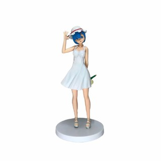 Cute Anime Re:Life in a different world from zero Dress Rem Standing Ver. PVC Action Figure Collectible Model Toys Doll 22cm