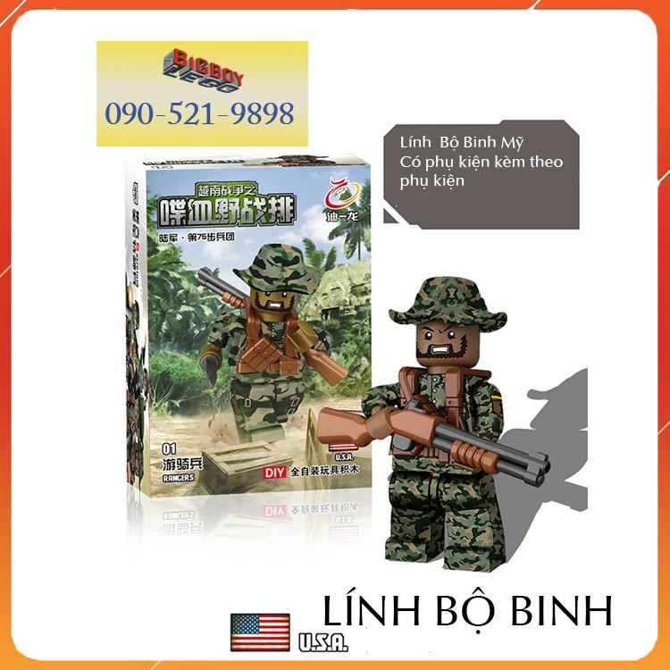(có sẵn) bộ lego🍄FREESHIP🍄 minifigures quân đội army Việt Nam D71010