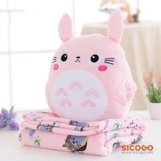 Thú bông Totoro có mền 3 trong 1 (1.6x1m) Sicogo