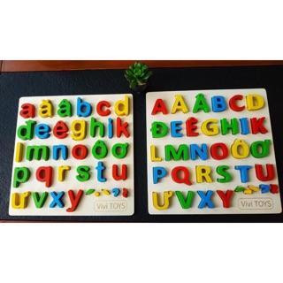 Bảng chữ cái, bảng chữ số nổi bằng gỗ
