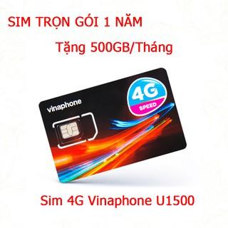 Sim 4G Vinaphone U900 Và U1500 – Tặng 500GB/Tháng – Trọn Gói 1 Năm Không Cần Nạp