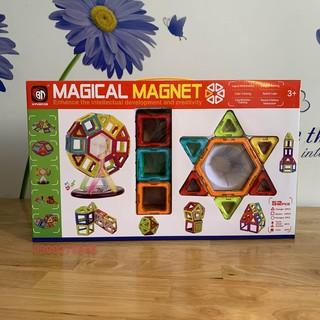 Đồ chơi Xếp hình Nam Châm Trí Tuệ Thương hiệu Magical Magnet 52 chi tiết (pcs) cho trẻ từ 3+ nhựa ABS chống va đập