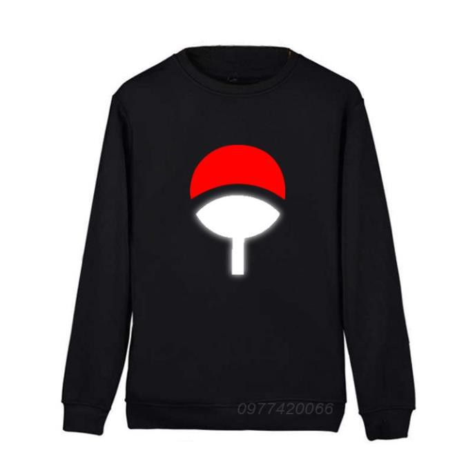 HOT áo sweater Naruto gia tộc Uchiha phản quang, áo thu đông Naruto Uchiha - áo chất
