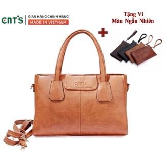 Túi xách công sở CNT nữ TX18 nhiều màu cao cấp(tặng ví mini)