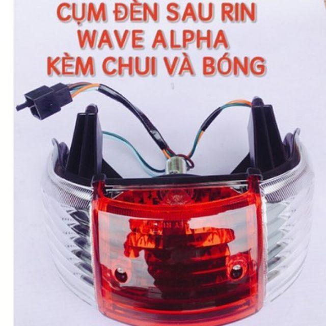 Cụm đèn hậu Wave Thái 110, A Anpha nhỏ ZX (củ sau)