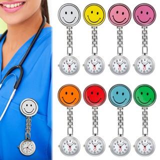 Cute Smile Face Clip On Pocket Fob Pendant Quartz Nurse Watch Colorful thumbnail