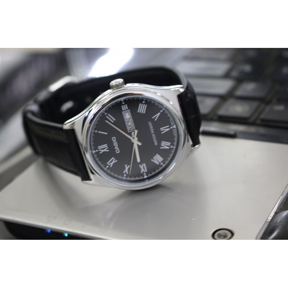 [Mã FABRR5503 giảm 20% đơn 249K] Đồng hồ nam/nữ casio chính hãng V006L, dây da