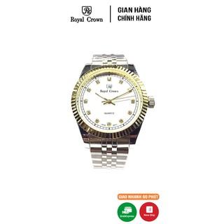 [Mã FARSBR153 giảm 15% đơn 150K] Đồng Hồ Nam Chính Hãng Royal Crown Italy 7701 Stainless Steel Watch