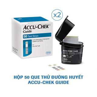Combo 2 hộp que thử đường huyết Accu-Chek Guide 50 que/hộp