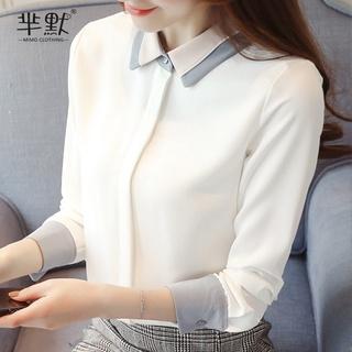 Áo Sơ Mi Chiffon Tay Dài Kiểu Hàn Quốc Thời Trang Mùa Thu Cho Nữ