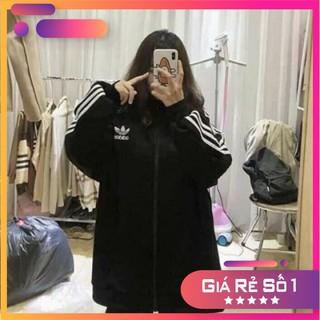 [BIG SALE] Áo khoác thể thao 3 sọc nữ - Tay phồng form rộng bigsize kiểu dáng trendy ulzzang HOT thumbnail